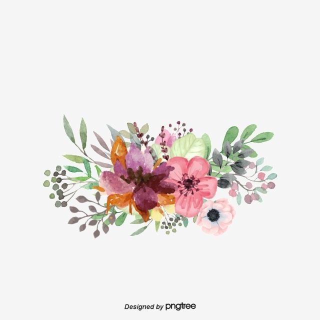 Flowers Clipart Hand Painted Png Transparent Image And Clipart For Free Download 8211 Water Watercolor Flowers Watercolor Flower Background Crown Painting
