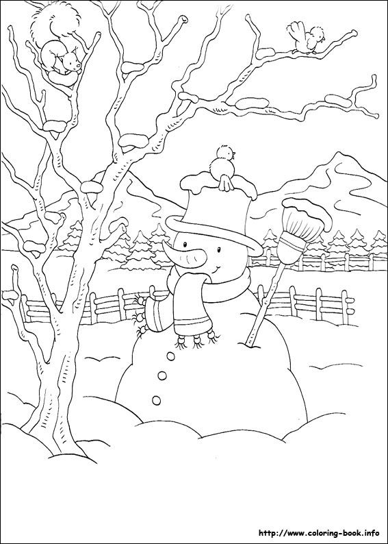 christmas coloring pages - Bare Tree Coloring Pages Printable