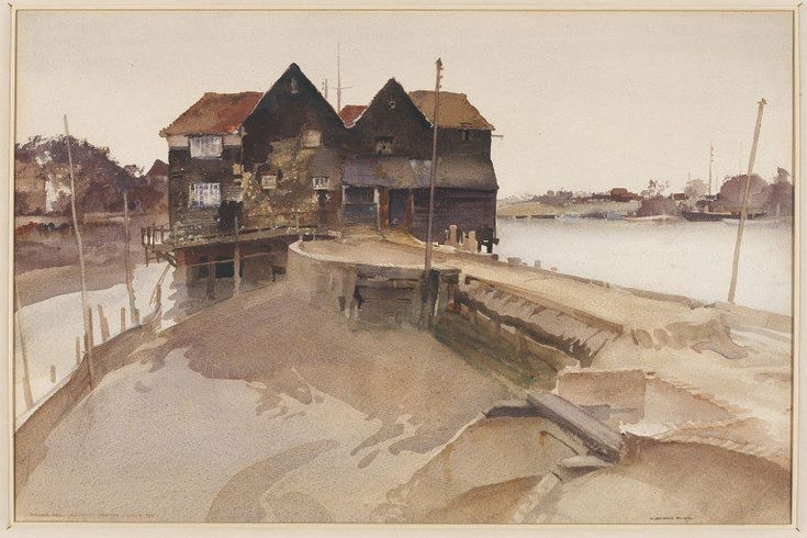 Birdham Mill, Chichester Channel; Recording Britain | Flint | V&A Search the Collections