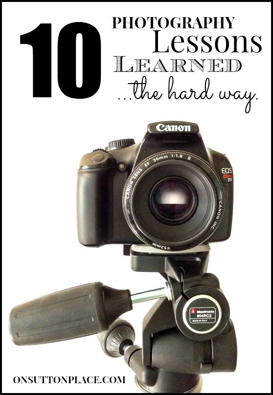 One blogger's account of her journey with the camera and what she's learned along the way.