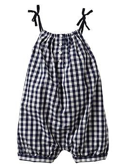 Checkered bow romper | Gap