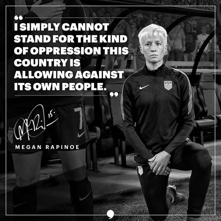 Megan Rapinoe's Stance on Kneeling. #MeganRapinoe #Rapinoe #USWNT #womenssoccer #soccerquotes #soccerplayers