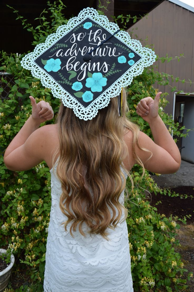 Custom lettered graduation cap
