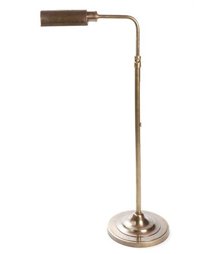 Brooklyn Floor Lamp Antique Brass 90-125H