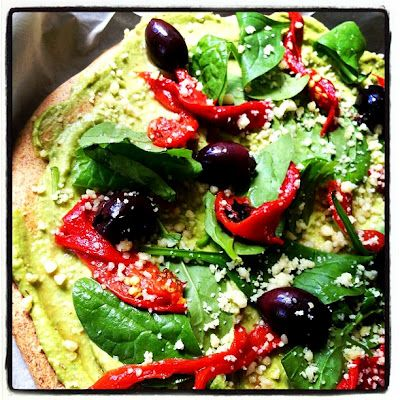 Quirky Cooking: Avocado Topping for a Dairy Free Pizza