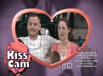 16 GIFs of the Most Hilarious Kiss Cam Goofs Ever from GifGuide