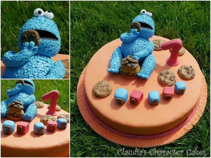 Krümelmonster Torte | Cookie Monster Cake