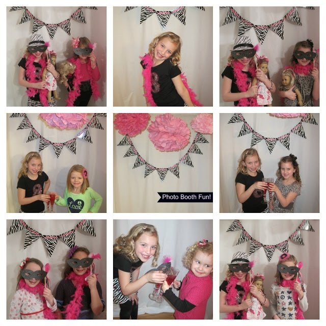 Simple photo booth props...so fun for a sleepover birthday party
