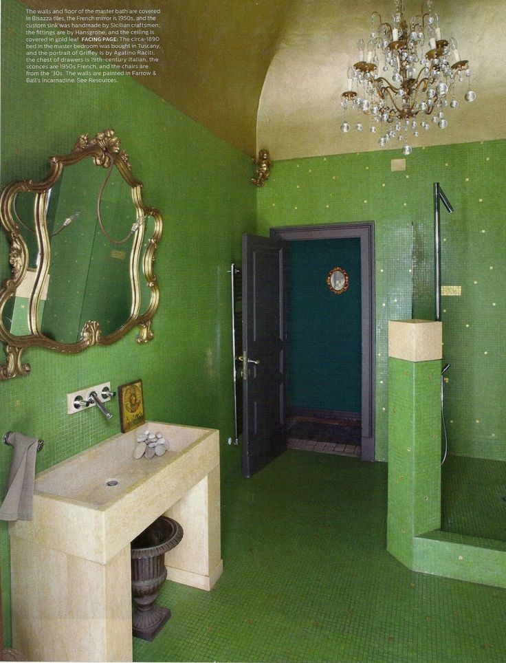 542 best images about color green rooms i love on for Green painted bathroom ideas