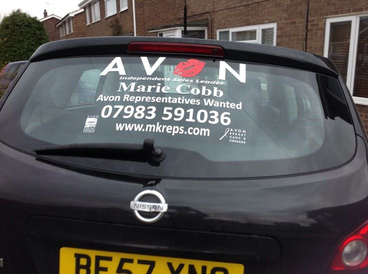 Best Avon Signs And Decals Images On Pinterest Decals Avon - Window stickers for cars uk