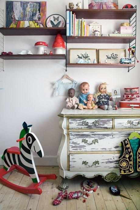 Du vintage dans les chambres d'enfants ...