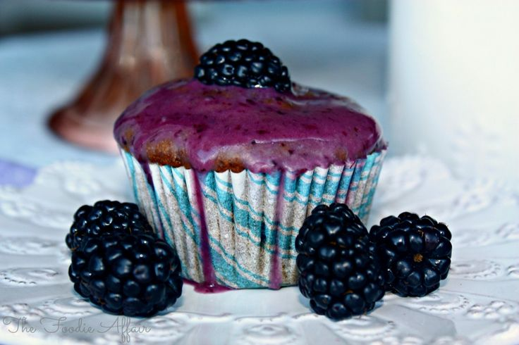 Blackberry Yogurt Muffins, not overly sweet, a delicious treat. Add to your breakfast or brunch menu - The Foodie Affair