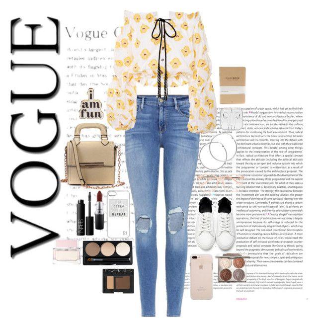 """Pretty in yellow."" by tropicaldallas on Polyvore featuring moda, Oris, Frame, Caroline Constas, Melissa Odabash, River Island, Chloé, ban.do, MAC Cosmetics y NARS Cosmetics"