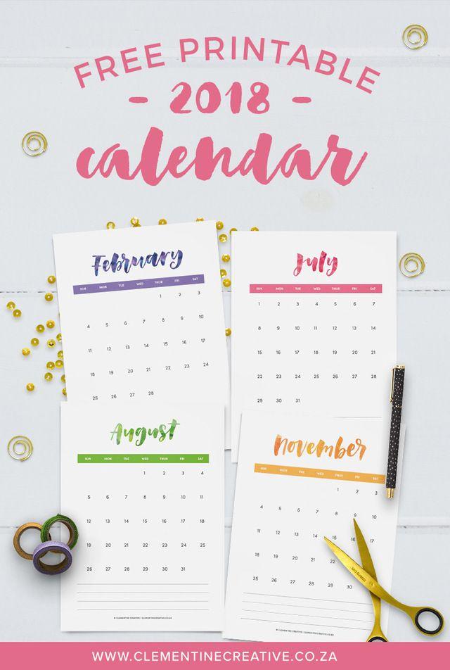 ダウンロードして貼るだけ 手帳に使える 海外の無料素材 11選 手書き文字 印刷可能なカレンダー カレンダー