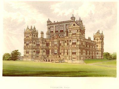 Morris's County Seats - Castles - WOLLATON HALL - Chromo - 1866