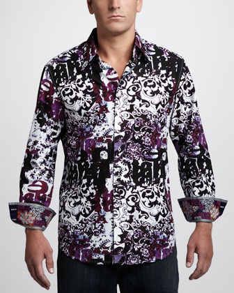 Man this one is awesome too!  Floral-Print Sport Shirt by Robert Graham at Neiman Marcus.