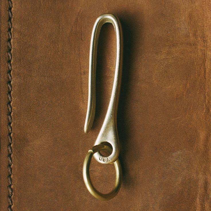 The Snake Hook: Key Chain Pocket Clip With Brass Ring | Snake Bite Co.