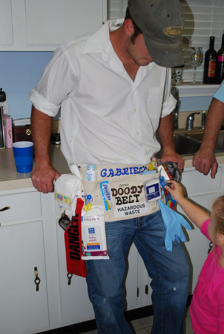 Daddy baby shower belt by Gaylene