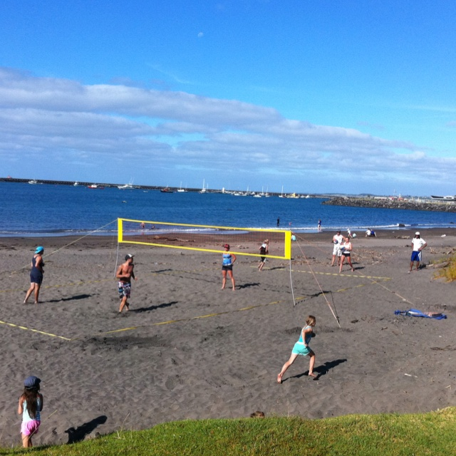 Volleyball at Breakwater Bay, New Plymouth, New Zealand
