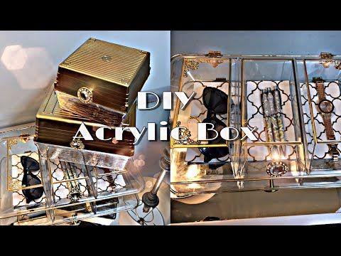 DIY | Acrylic Storage Box | Using Dollar Tree Acrylic Containers - YouTube