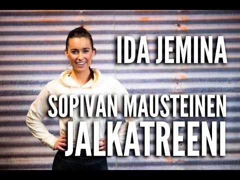 Sopivan mausteinen jalkatreeni | Fitnessvalmentaja Ida Jemina | Tikis.fi