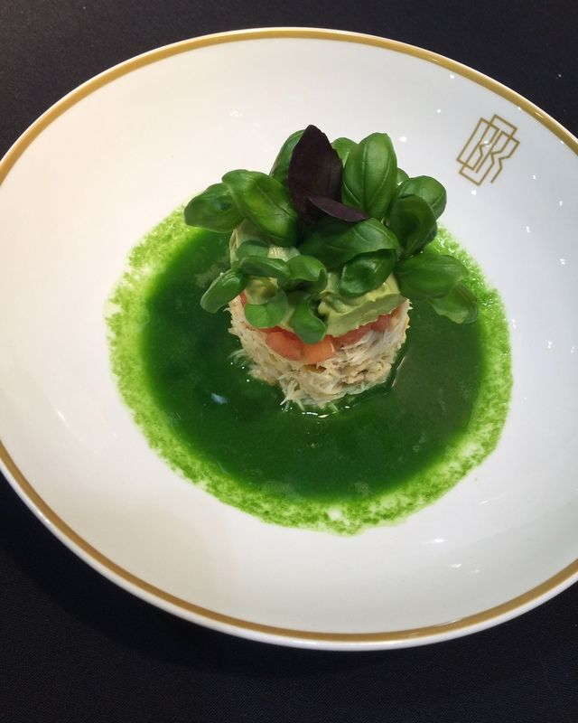 Crab, Avocado and Basil Consommé recipe by professional chef Anna Haugh