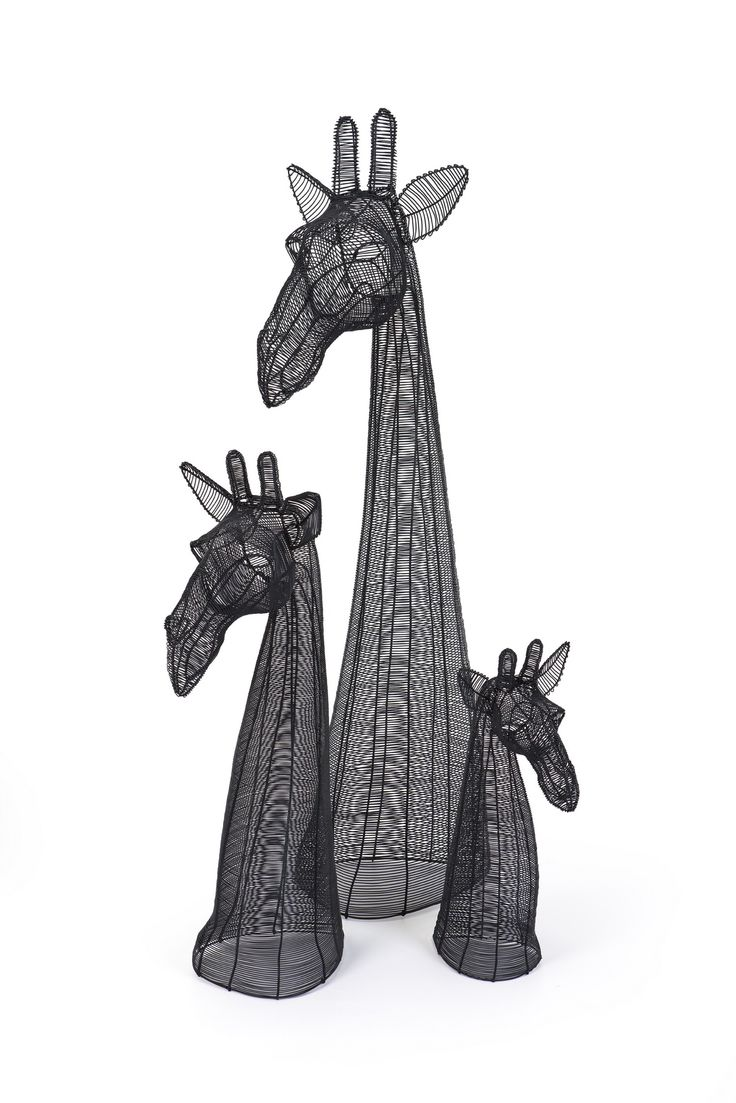 Matt Black Giraffe Busts - 55/85/125cm sizes