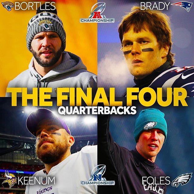 One of these guys is not like the others. @tombrady has more #SuperBowl wins than the others playoff wins. #Patriots #Playoffs #NFL