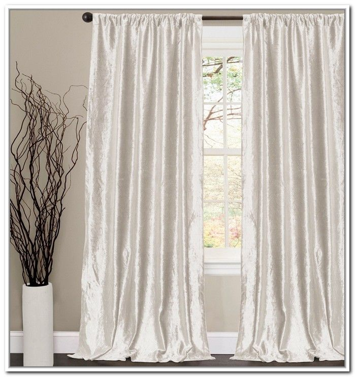 White Crushed Velvet Curtains Baby Feeding Room