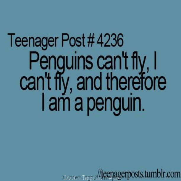 1,000,000 Quotes App for Instagram /// funny sayings teenagerposts teens mindblown mind penguin animal me Quote - QuotesTags.com