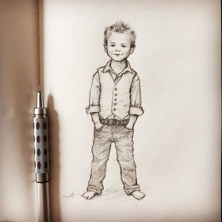 Little boy drawing. Quick sketch. #kiddrawing # ...