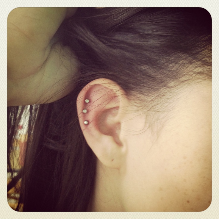 Triple helix ear piercing