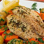 Broiled Tilapia with Parsley Potatoes and Carrots recipe - Canadian Living