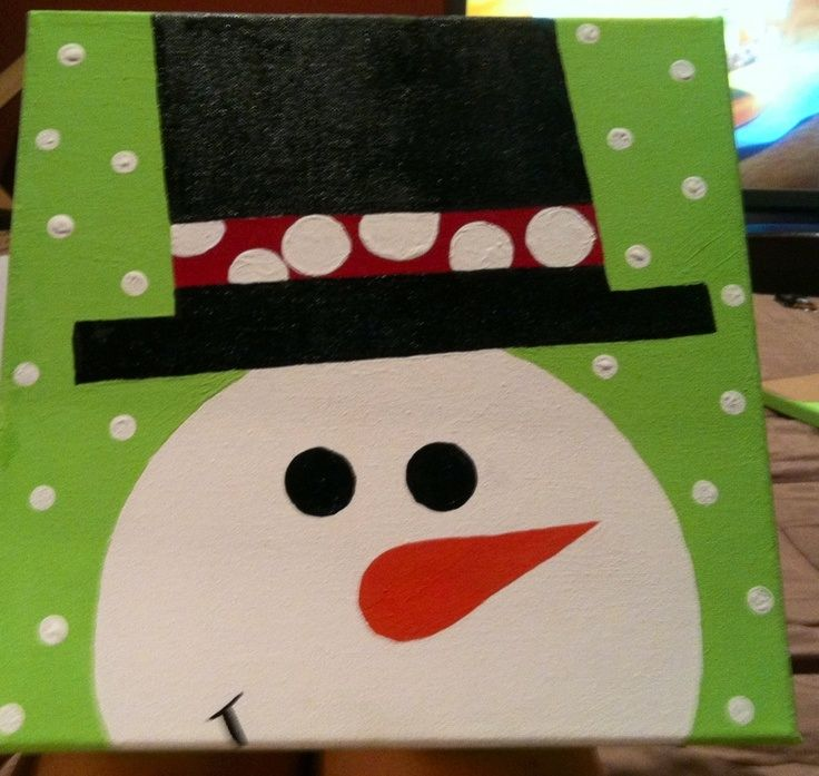 Easy Christmas Paintings On Canvas Images Pictures