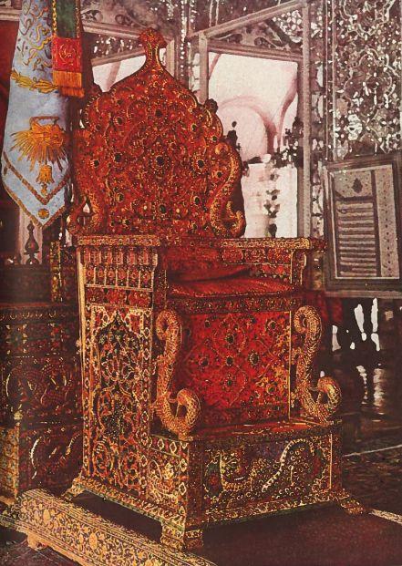 Peacock Throne in Delhi, India
