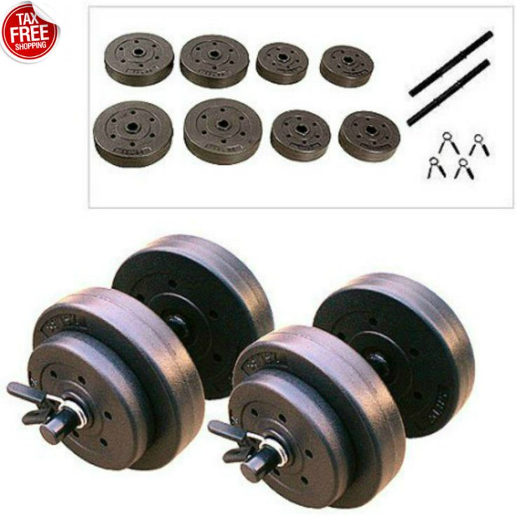 This Golds Gym Vinyl Dumbbell Set 40 lb Hand Weights Workout Adjustable Dumbbells New is ideal for beginners as well as experienced lifters. Those who appreciate weightlifting will enjoy the Golds Gym Vinyl Dumbbell Set 40 lb Hand Weights Workout Adjustable Dumbbells New. This pair of hand weights comes with two tubular steel bars, collars for securing movable components and cement-filled plates.