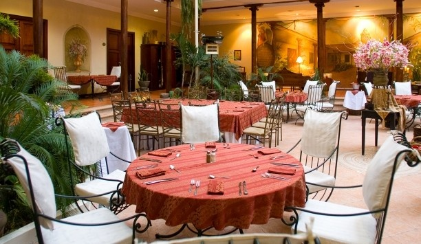 Hotel Boutique Santa Lucia  Trattoria Novecento serves an all-Italian menu in the light-filled central courtyard.
