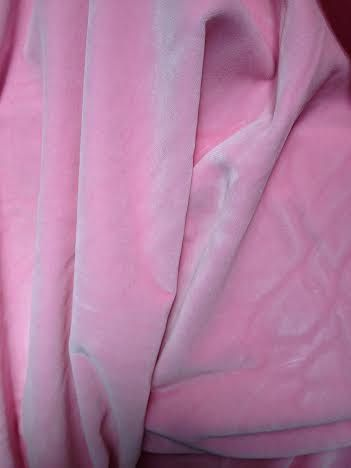 Vintage cotton velvet 36' wide light pink by PromenadeFabrics
