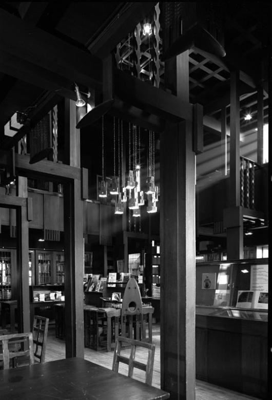 Library interior, Glasgow School of Art  Architect: Charles Rennie Mackintosh (1907-1909)