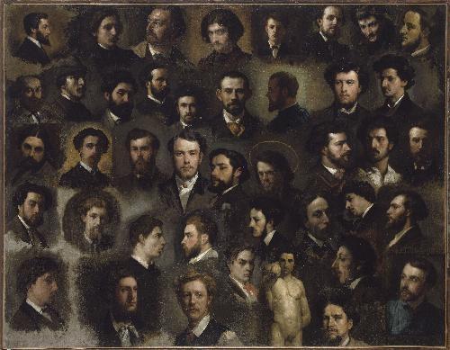 43 portraits de peintres de l'atelier Gleyre