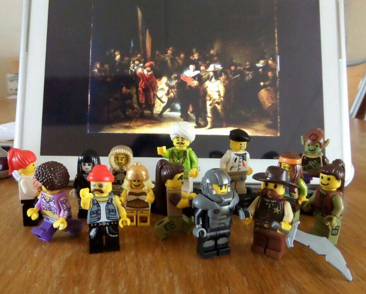 Lego minifigures de nachtwacht