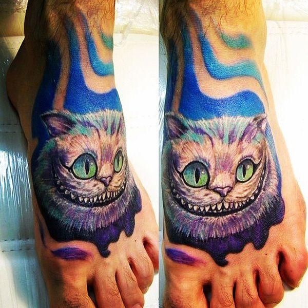 значение татуировки чеширский кот
