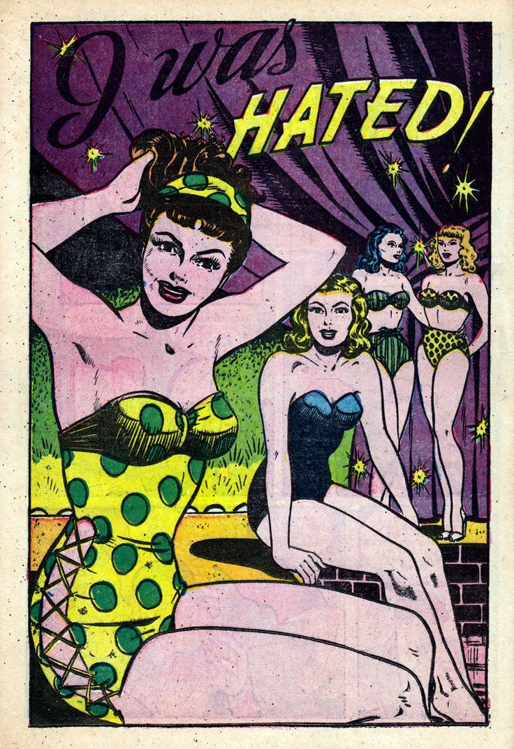 """Comic Girls Say.. """"i was hated""""..  #comic #popart #vintage -All True Romance (1951)"""