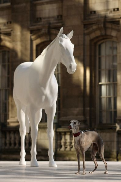 The British Council Unveils Artist Mark Wallingers The White Horse Sculpture On The Mall