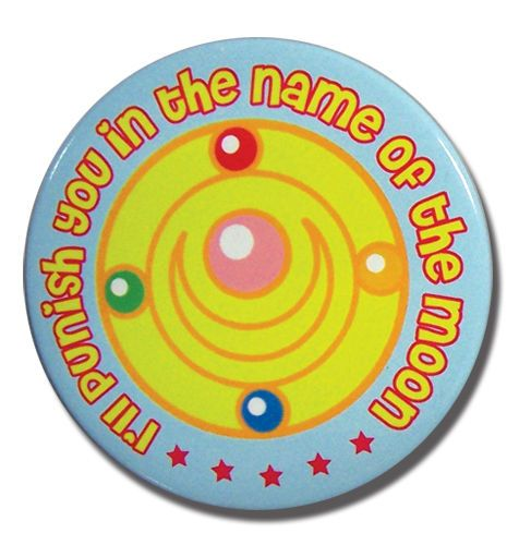 "Sailor Moon Sailor Moon Punish In The Name Of Moon 2"" Button GE6835"