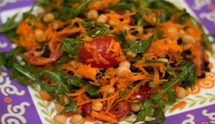 Moroccan Chickpea Salad - Good Chef Bad Chef