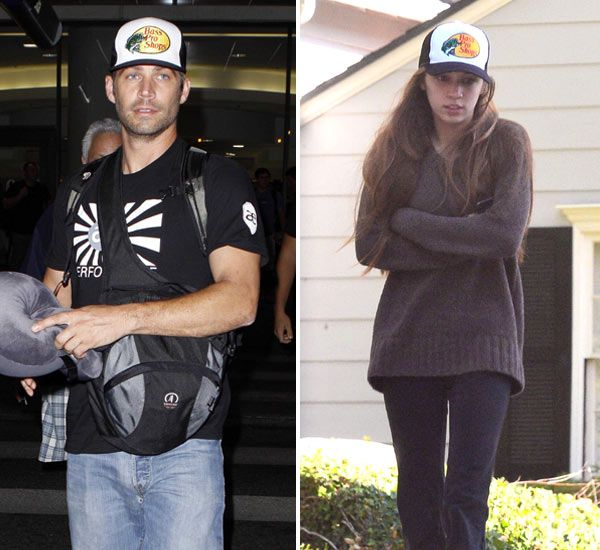 Paul Walker's Daughter Meadow Walker Wears His Hat Sad Photo