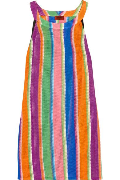 Multicolored crochet-knit Slips on rayon Dry clean Made in Italy