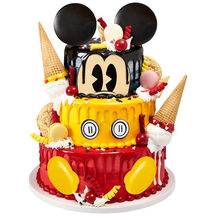 Melting Mickey Cake Design Decopac In 2020 Cake Mickey Cakes Walmart Cakes