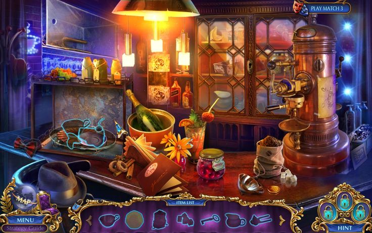 First Hidden Object scene of Labyrinths of the World 2: Forbidden Muse Collector's Edition